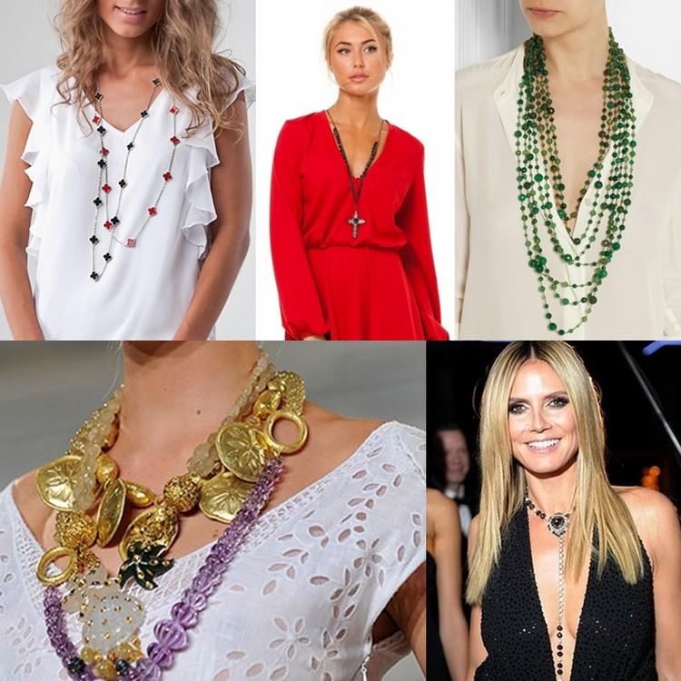 Какие украшения носить с разными вырезами на одежде
