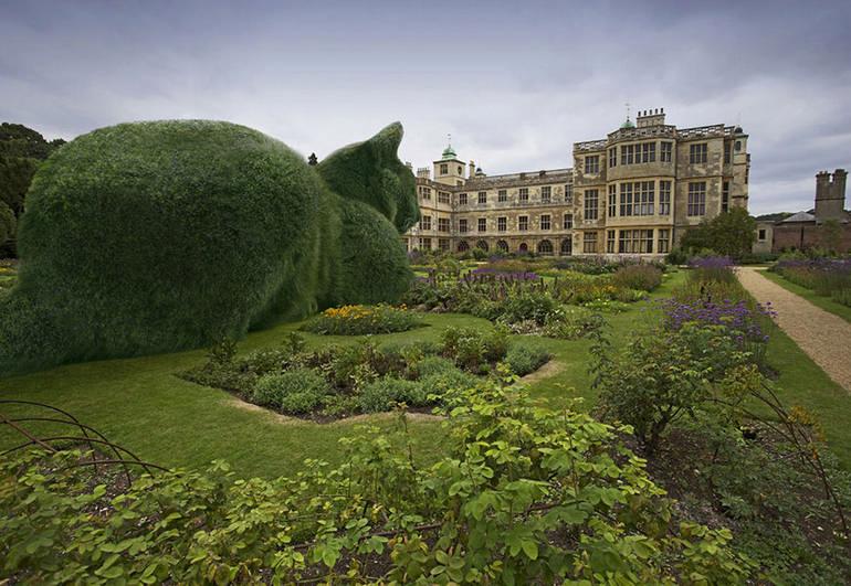 Это волшебное место, где деревья и кусты превратились в гигантских котов