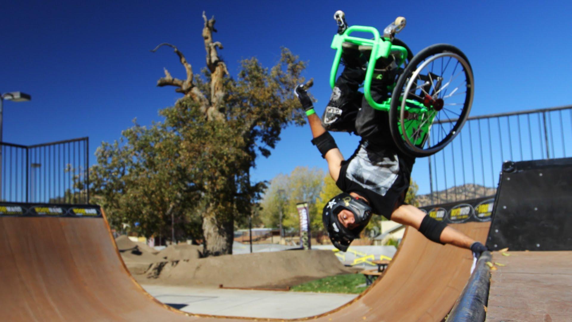 Фристайл на инвалидной коляске. Вот что такое сила! - Твой интернет