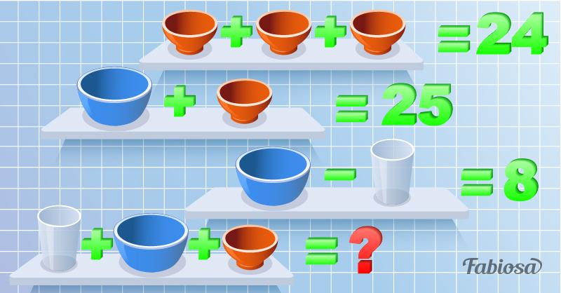 Как быстро вы сможете решить эту задачку? Засекайте время!