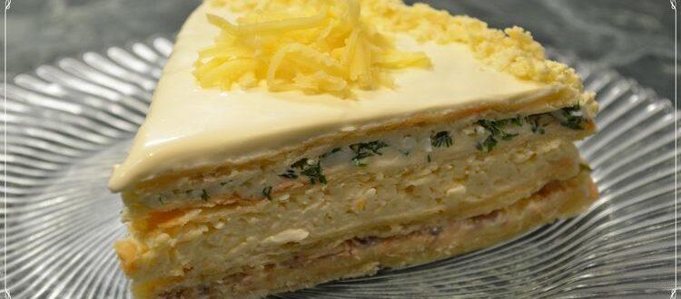 Обалденно вкусный Закусочный торт! Порадуй своих гостей - Твой интернет