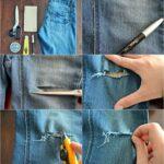 Как зашить джинсы между ног незаметно