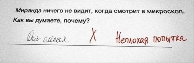 Учитель оценила
