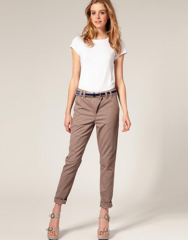 Можно ли носить укороченные брюки с колготками