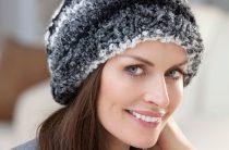 Зимние вязаные шапочки для женщин. Как подобрать шапочку к лицу