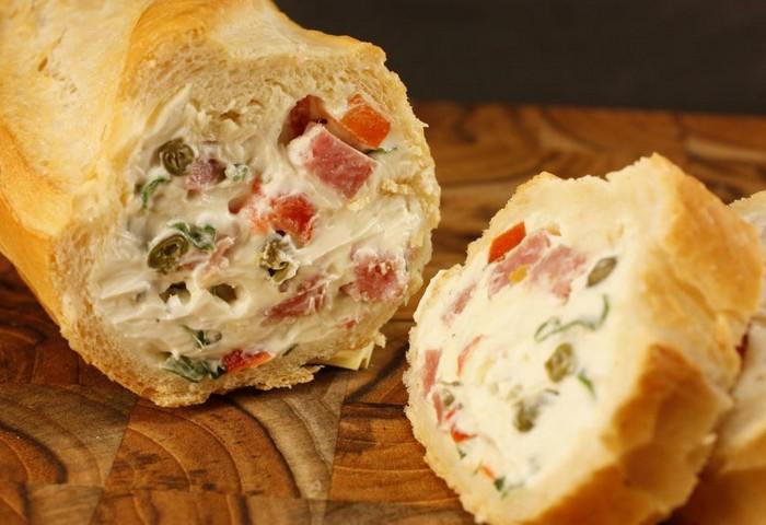 Рецепты фаршированного хлеба для пикника
