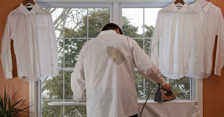 Как удалить следы от утюга в домашних условиях