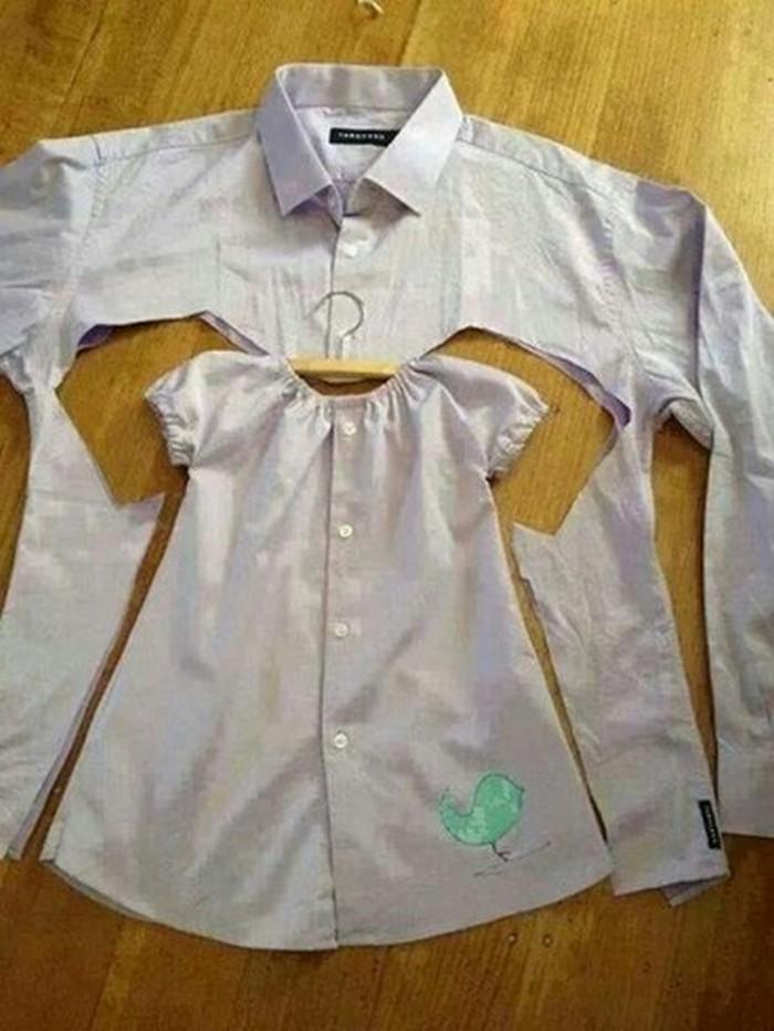 12 великолепных идей переделки мужской рубашки