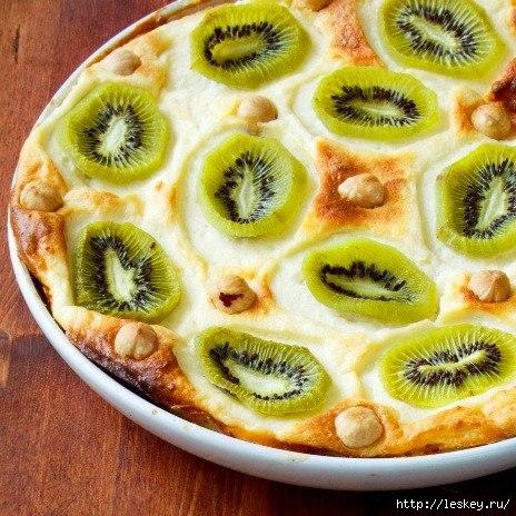 Рецепт дня: творожная запеканка с киви и бананами