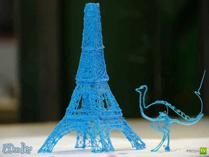 3D ручка рисует объемные фигуры без компьютера