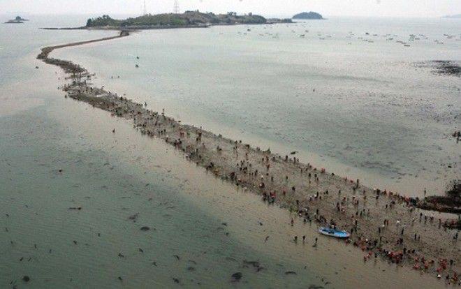 Моисеево чудо, которое можно увидеть своими глазами, находится на острове Чиндо