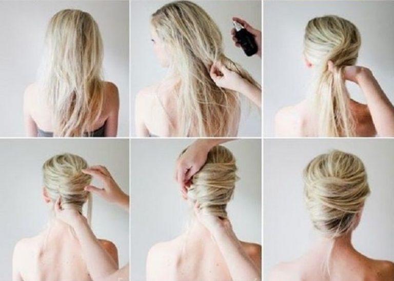 Прическа для офиса на каждый день на длинные волосы