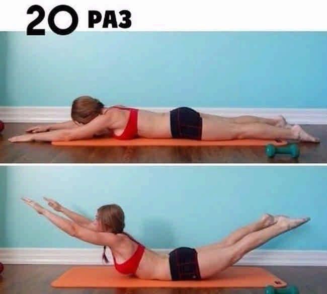 Эффективный пример жиросжигающей тренировки. Всего 6 упражнений