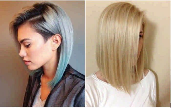 Модная стрижка боб на длинные волосы