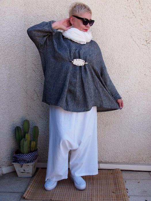 Современный стиль бохо, который идеально подойдёт для пышных дам за 40