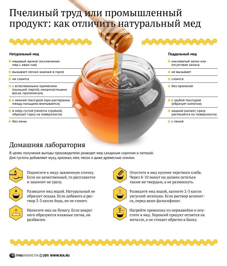 6 способов отличить настоящий мёд от поддельного