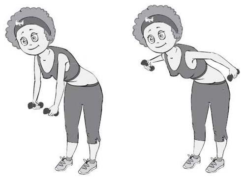 Японские упражнения с гантелями